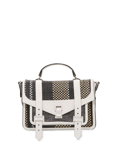 PS1 Medium Mixed Woven Shoulder Bag