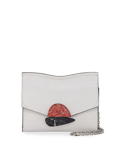 Curl Small Smooth Leather Clutch Bag