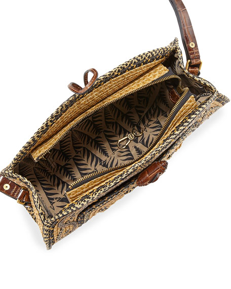 Jiva Straw Half-Moon Shoulder Bag