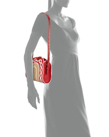 Lil Jiva Woven Straw Shoulder Bag