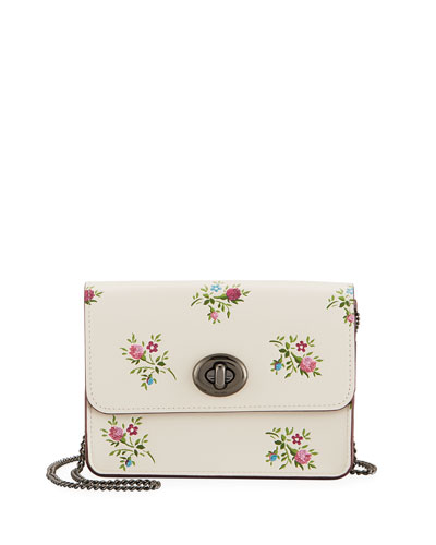 Bowery Cross-Stitch Floral Crossbody Bag