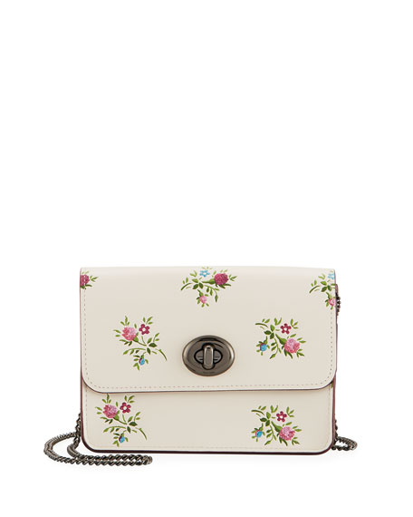 Coach Bowery Cross-Stitch Floral Crossbody Bag