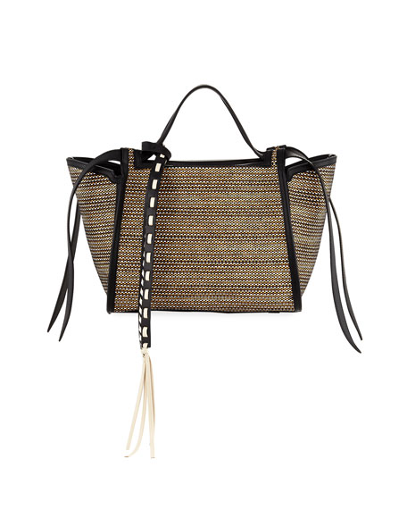 Elena Ghisellini Usonia Medium Basket Tote Bag