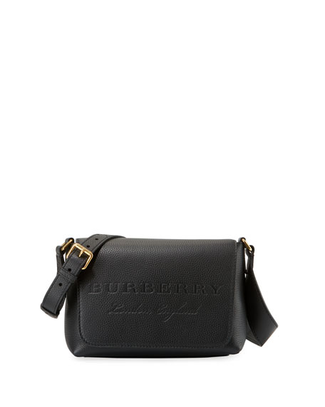 Burberry Burleigh Small Soft Leather Crossbody Bag, Black