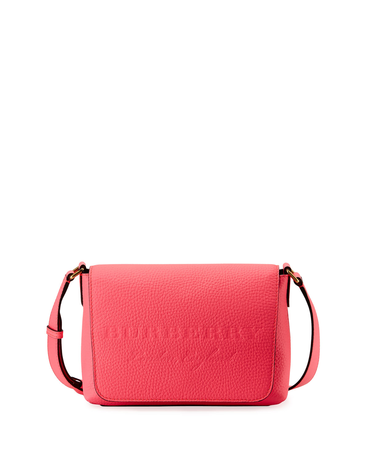 c34eae2761e Burberry Burleigh Small Soft Leather Crossbody Bag, Bright Pink ...