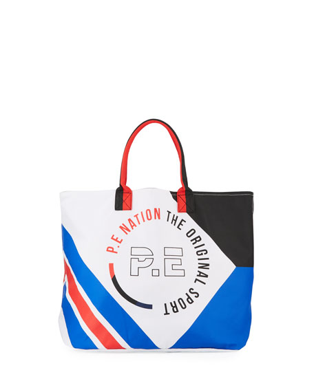 PE Nation Carry All Beach Canvas Tote Bag