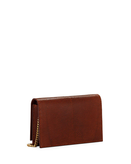 Kate Monogram YSL Small Lizard Wallet on Chain