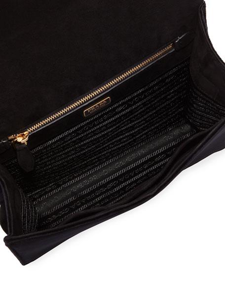 Cubist Velvet Shoulder Bag