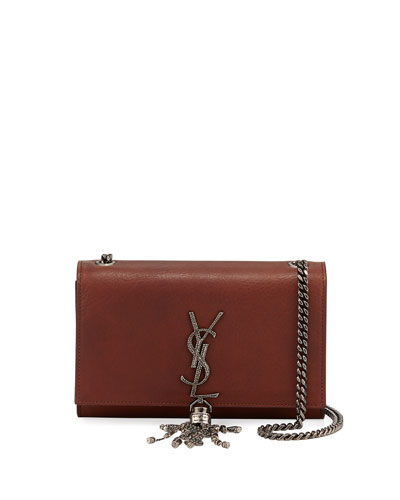 Kate Small Etched Tassel Crossbody Bag