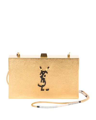 Tuxedo East-West Cobra Box Clutch Bag