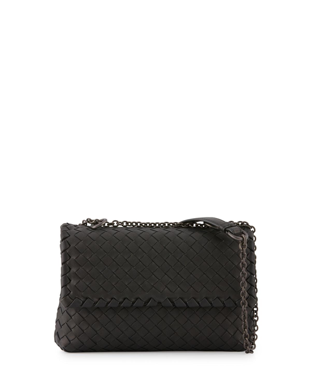 74c261a995d1 Bottega Veneta Baby Olimpia Intrecciato Shoulder Bag
