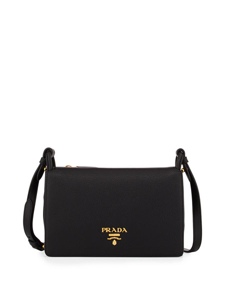 Prada Vitello Daino Double-Gusset Shoulder Bag
