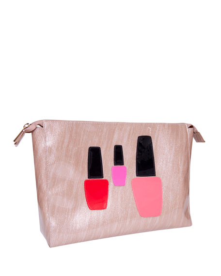 Betty Cosmetics Bag, Brushed Rose Gold Nail Polish