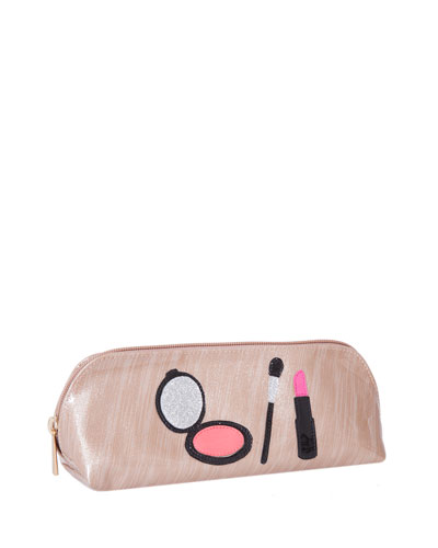 Reynolds Cosmetics Bag, Brushed Rose Gold Makeup