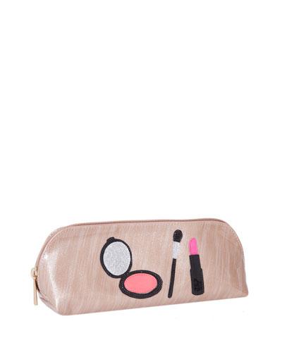 Reynolds Cosmetics Bag, Brushed Rose Gold Makeup