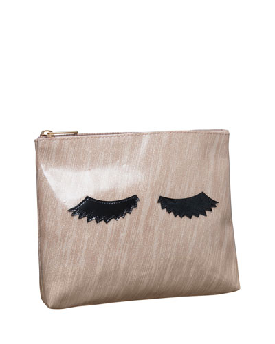 Alice Cosmetics Bag, Brushed Rose Gold Eyelashes
