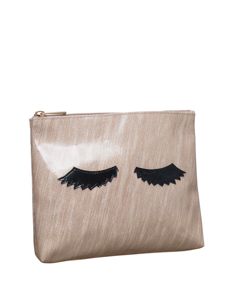 Lolo Bags Alice Cosmetics Bag, Brushed Rose Gold