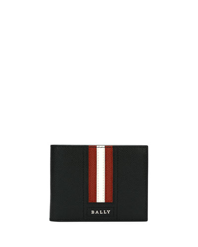 Trasai Striped Leather Wallet