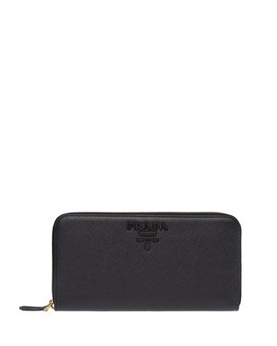 Monochrome Zip-Around Wallet