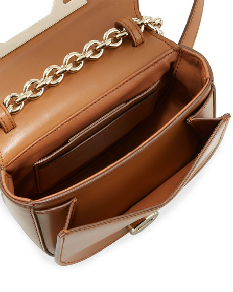 Small Gancio Crossbody Bag, Light Brown