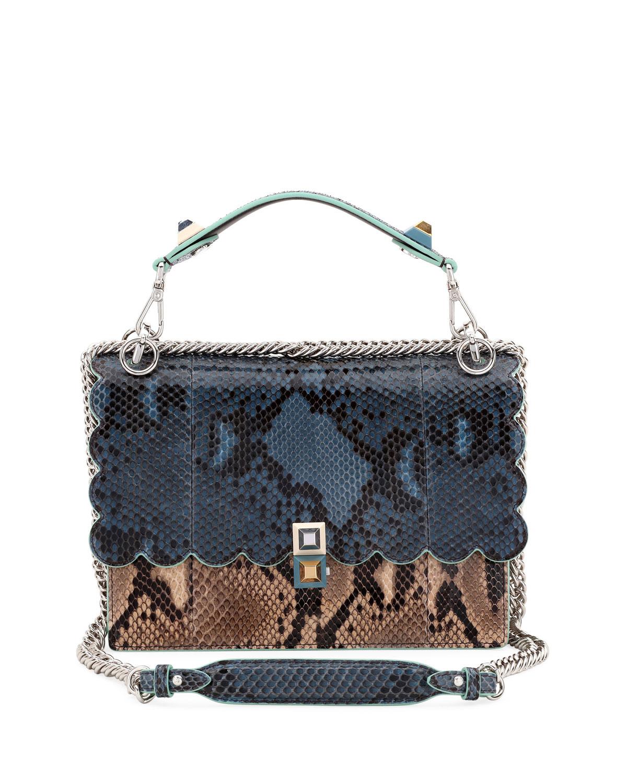 293690ec6c95 Fendi Kan I Python Shoulder Bag