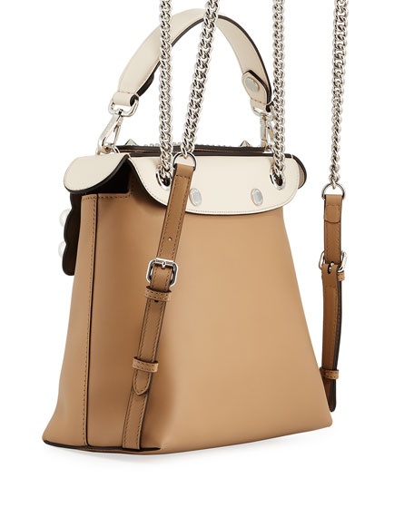 Back To School Pearlescent Leather Backpack/Crossbody Bag