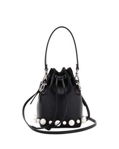 Mon Tressor Calf and Pearlescent Bucket Bag