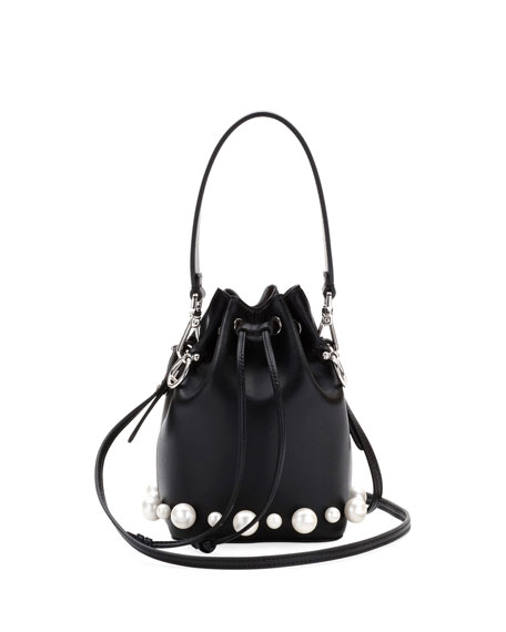 Mon Tresor Calf and Pearlescent Bucket Bag