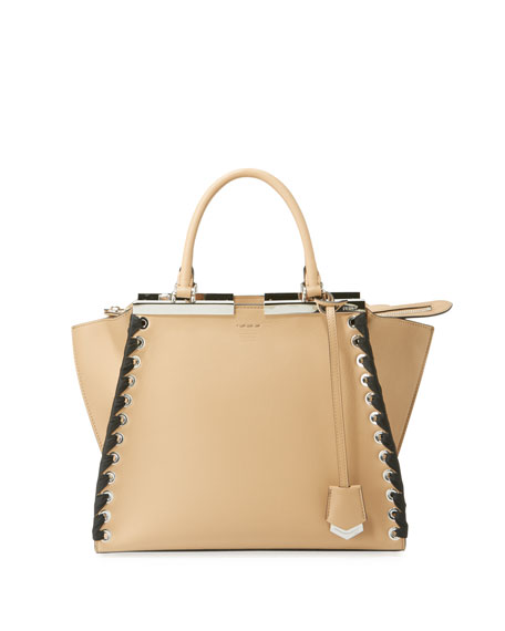 Fendi 3Jours Medium Tote Bag with Ribbon Whipstitching