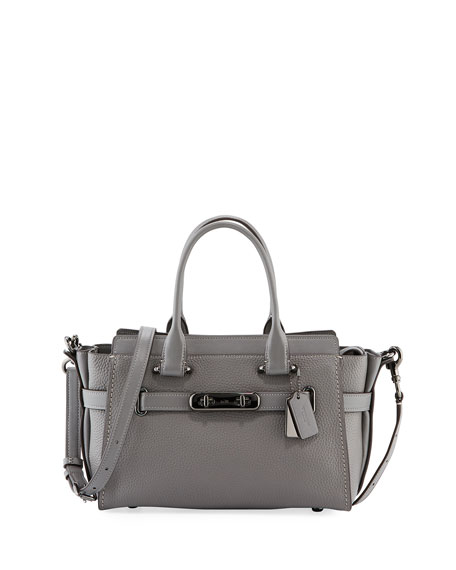 Coach Swagger 27 Prairie Rivets Satchel Bag, Gray