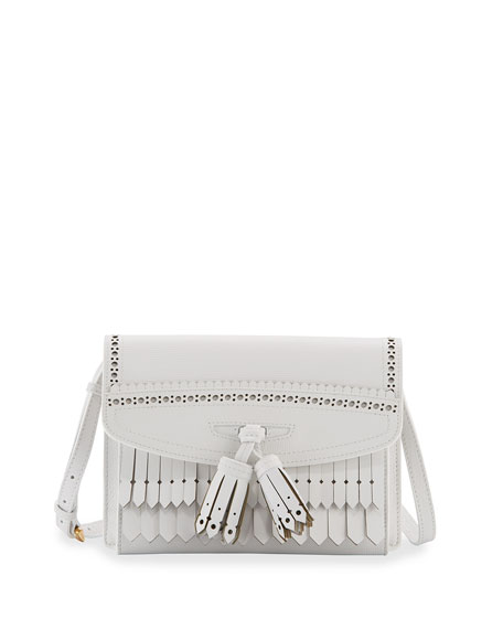 Burberry Macken Small Broguing Tassel Crossbody Bag