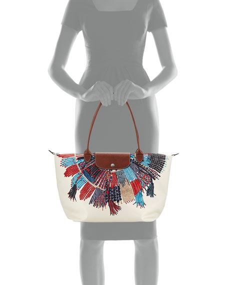 Le Pliage Collier Massai Nylon Shoulder Bag