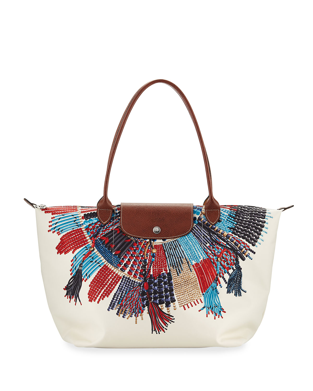 Longchamp Le Pliage Collier Massai Nylon Shoulder Bag Neiman Marcus
