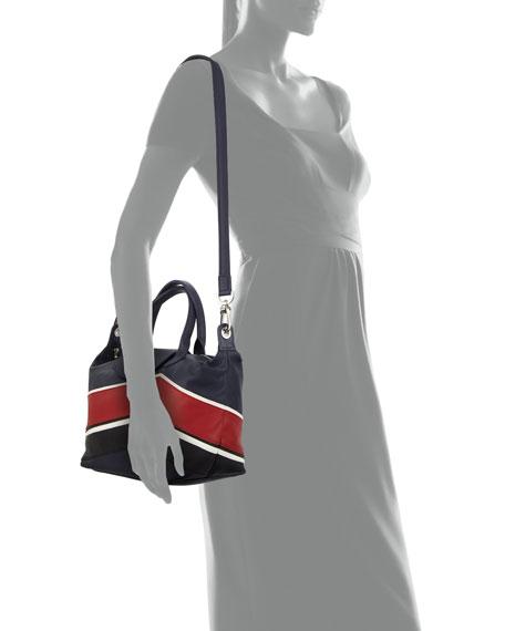 Le Pliage Cuir Chevron Small Handbag with Strap
