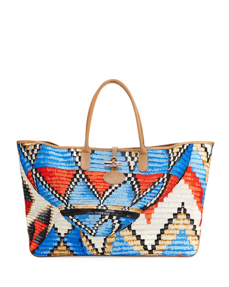 Longchamp Roseau Paniers Dart XL Tote Bag