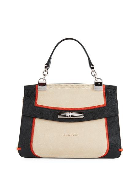 Longchamp Madeleine Tribu Leather/Suede Crossbody Bag