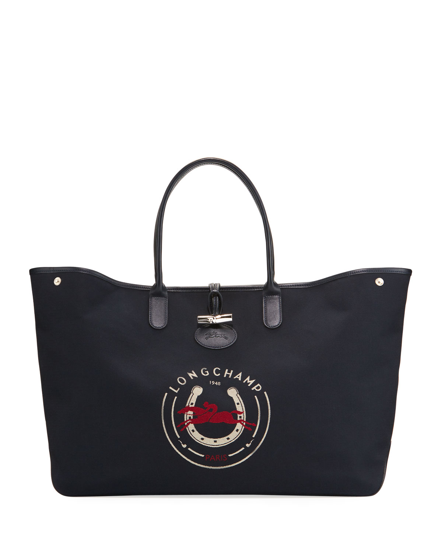 Longchamp Roseau 1948 XL Logo Tote Bag  d4ac883cf35a3