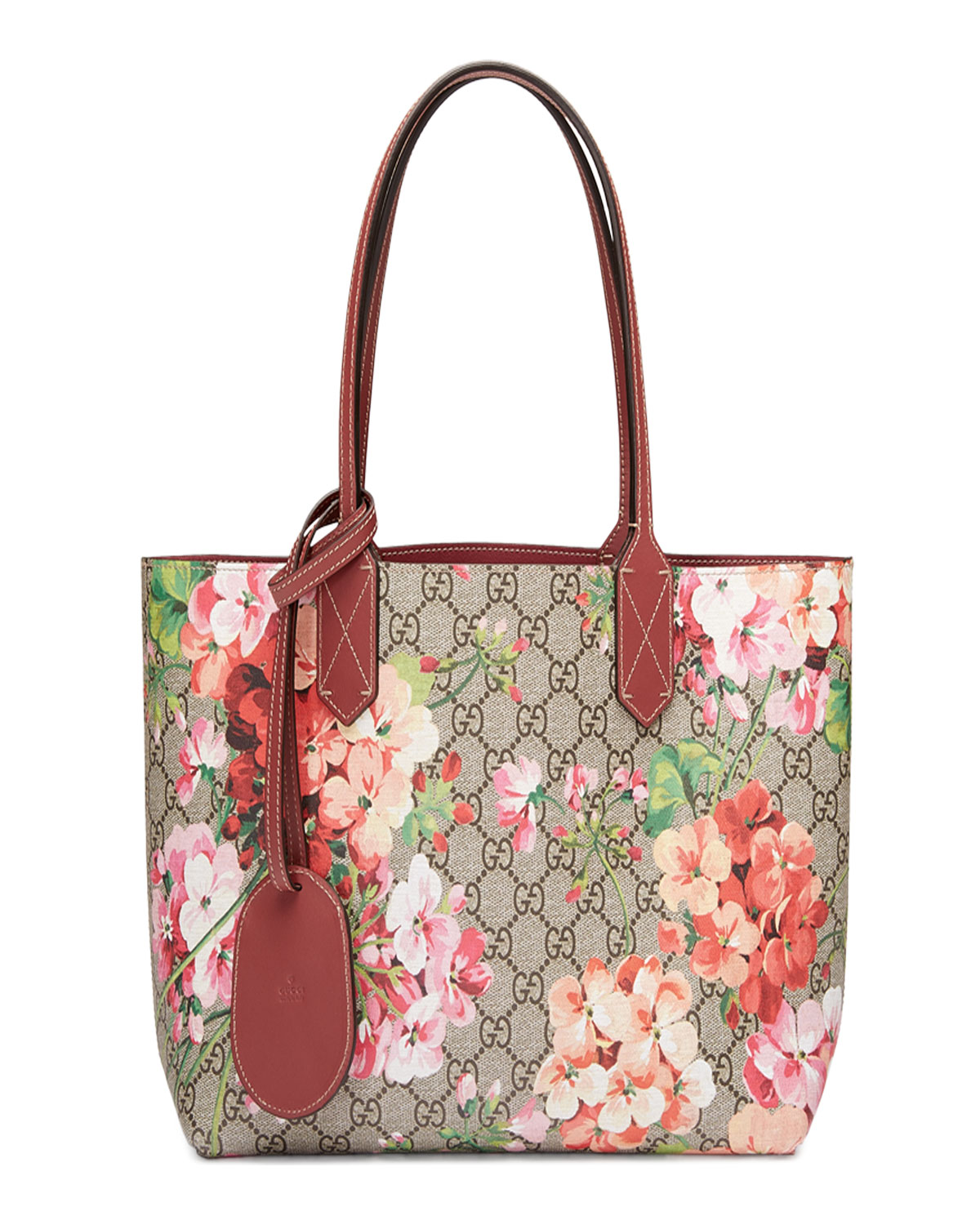 edcbf0e96 Gucci GG Blooms Reversible Small Tote Bag | Neiman Marcus