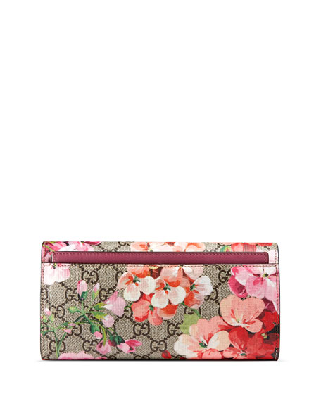 GG Blooms Continental Flap Wallet