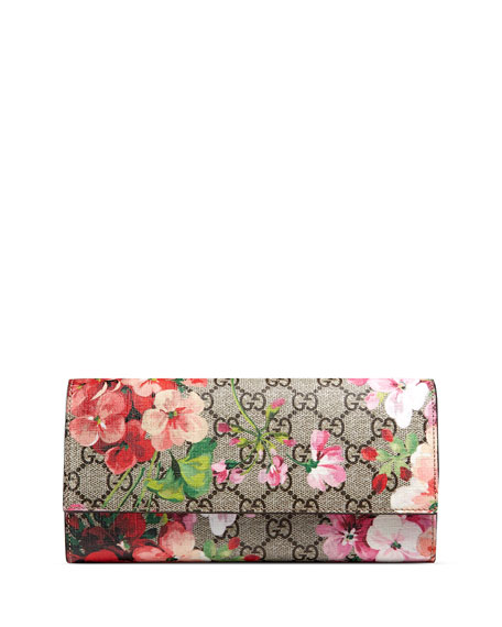 Gucci GG Blooms Continental Flap Wallet