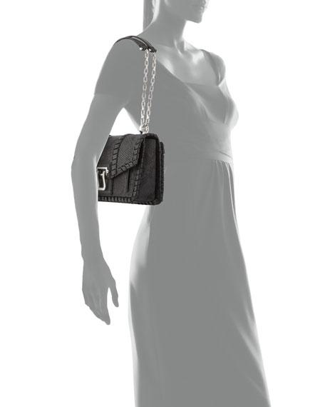 Hava Chain Leather Crossbody Bag, Gray