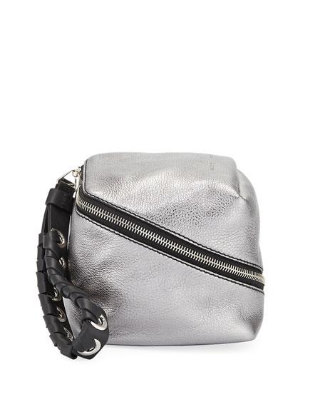 Zip Mini Metallic Cube Wallet