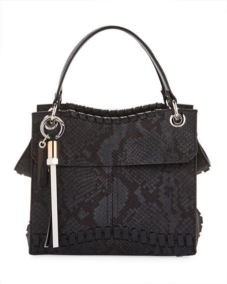 Proenza Schouler Curl Embossed Python Shoulder Bag