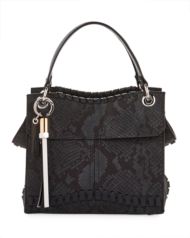 Proenza Schouler Curl Embossed Python Shoulder Bag   Neiman Marcus 1a41d8bc4b