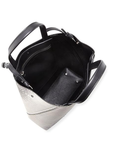 Hex Embossed Lizard Tote Bag