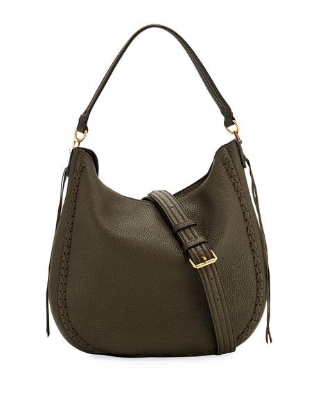 Rebecca Minkoff Convertible Pebbled Leather Hobo Bag