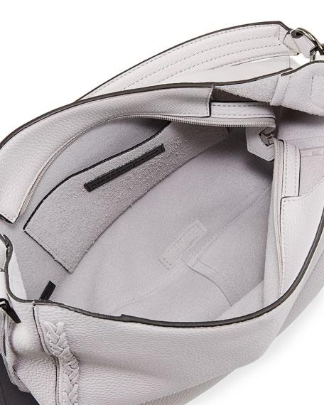 Convertible Pebbled Hobo Bag
