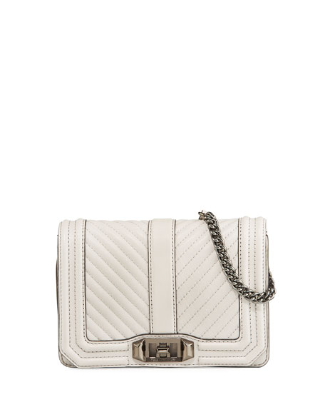 Rebecca Minkoff Love Small Chevron Quilted Crossbody Bag