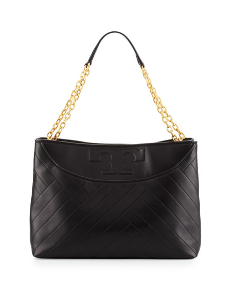 Tory Burch Alexa Quilted Leather Tote Bag