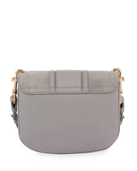 Hana Small Leather/Suede Crossbody Bag